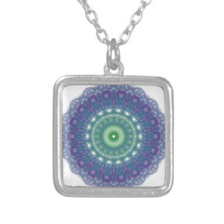 Chill Mandala Design Silver Plated Necklace