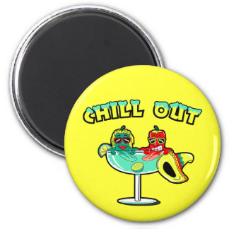 Chill Out 2 Inch Round Magnet