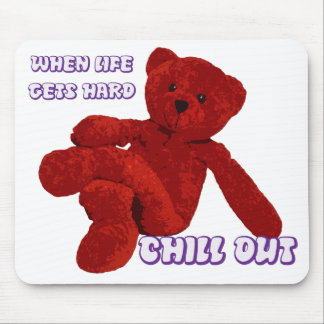 CHILL OUT BEAR MOUSE PAD