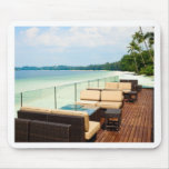 Chill out by the beach mouse pads