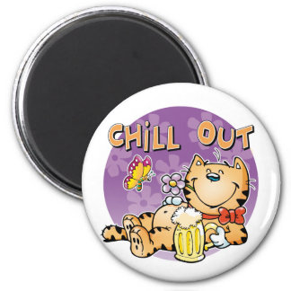 Chill Out Cat Magnet