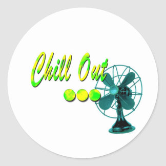 Chill Out! Classic Round Sticker