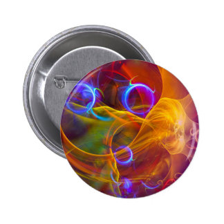 Chill Out , Colorful Digital Abstract Art Pinback Button