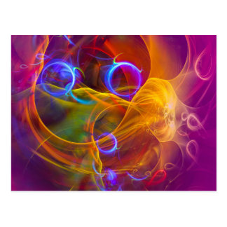 Chill Out , Colorful Digital Abstract Art Postcard