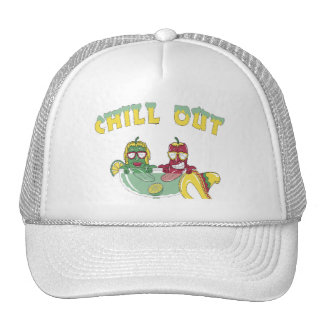 Chill Out Custom White Hat