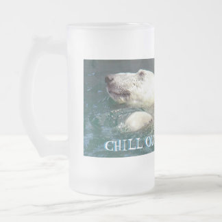 CHILL OUT, FROSTED GLASS BEER MUG