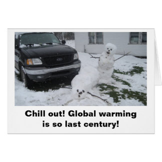Chill out! Global warming is so last century! Card