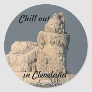Chill out in Cleveland, Ohio Sticker