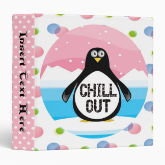 Chill Out Penguin Avery Binder