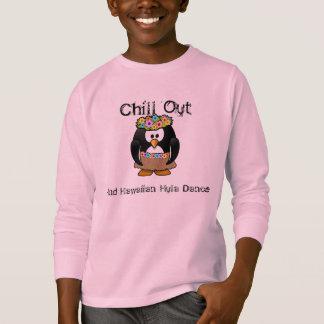 Chill Out Penguin Hawaiian Hula Dance Aloha T-Shirt