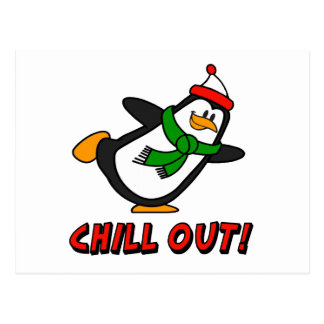 Chill Out! Penguin Postcard