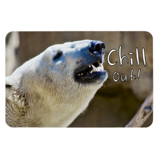 Chill out! polar bear magnet