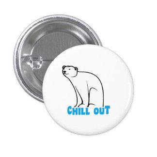 Chill Out Polar Bear Pinback Button