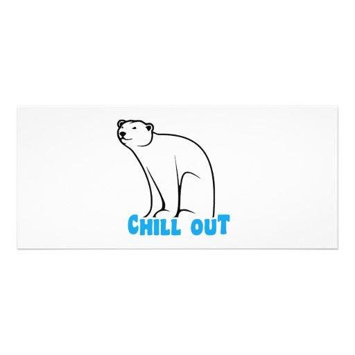 Chill Out Polar Bear Custom Rack Cards