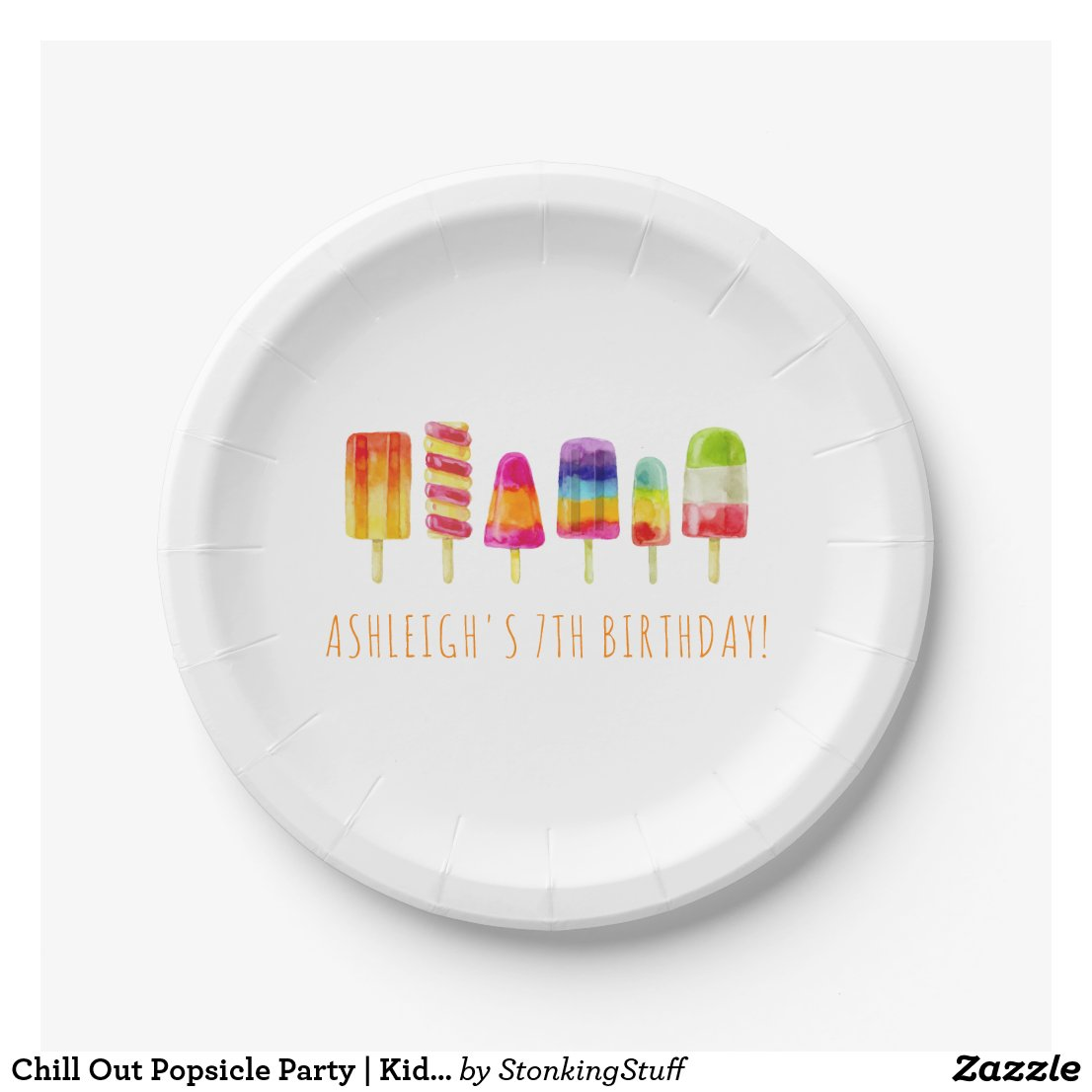 Chill Out Popsicle Party | Kids Birthday Party Paper Plate