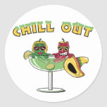 Chill Out Round Sticker