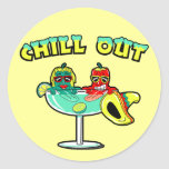 Chill Out Round Stickers