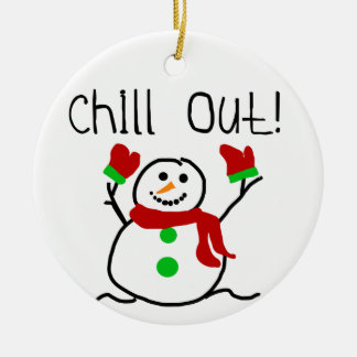 Chill Out Snowman  Keepsake Ornament