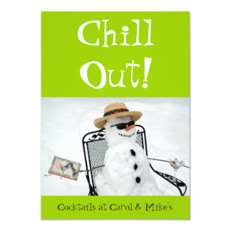 Chill Out: Winter Cocktail Party Custom Invites