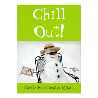Chill Out: Winter Cocktail Party Custom Invitations