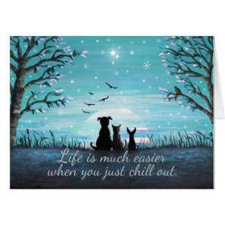 Chill Out Winter Sunset Card