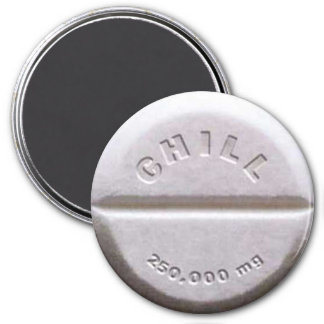 CHILL PILL 3 INCH ROUND MAGNET