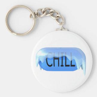Chill Pill Blue Keychain