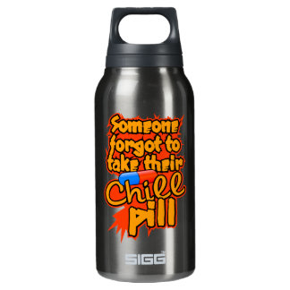 Chill Pill custom Insulated Water Bottle
