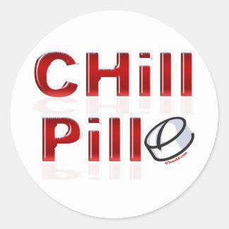 Chill Pill Funny PMS Classic Round Sticker