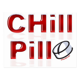 Chill Pill Funny PMS Postcard