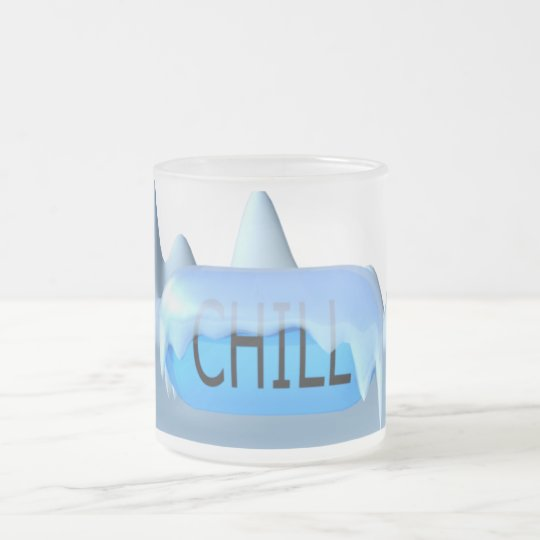 Chill Pill Parody Frosted Mug 01