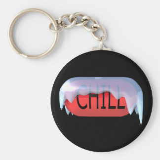 Chill Pill Red Keychain