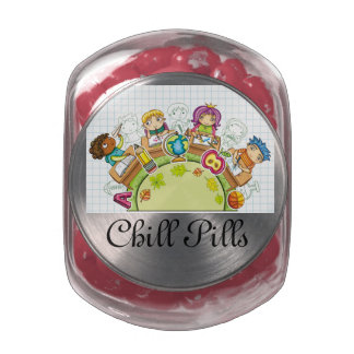 Chill Pills - Jelly Beans - SRF Jelly Belly Candy Jar