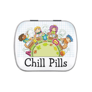 Chill Pills - Jelly Beans - SRF Jelly Belly Candy Tin