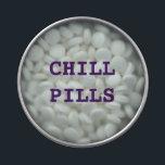 """CHILL PILLS ( MINTS) JELLY BELLY TIN<br><div class=""""desc"""">CHILL PILLS ( MINTS )</div>"""