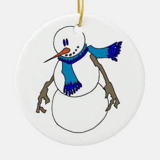 Chill Snowman Christmas Ornament