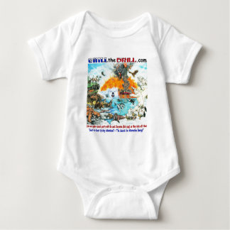 """""""Chill the Drill!"""" Nature & Wildlife Baby Bodysuit"""
