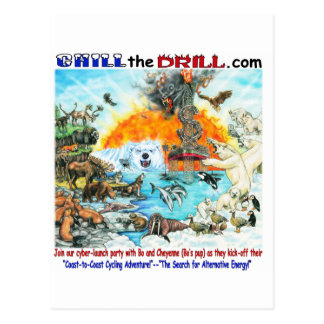 """""""Chill the Drill!"""" Nature & Wildlife Postcard"""