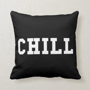 Beach Themed Chill Throw Pillow