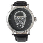 Chill Vintage Skull in Sunglasses Wristwatch