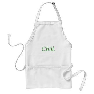 Chill. Yellow Green Pink Adult Apron