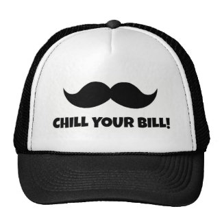 Chill your Bill Hat with Mustache