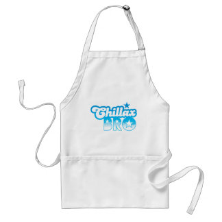 Chillax Bro!  RELAX AND CHILL brother in cool Blue Adult Apron