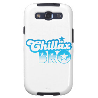 Chillax Bro!  RELAX AND CHILL brother in cool Blue Galaxy S3 Cover