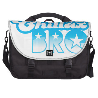 Chillax Bro!  RELAX AND CHILL brother in cool Blue Bag For Laptop