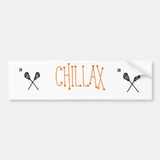 CHILLAX CAR BUMPER STICKER
