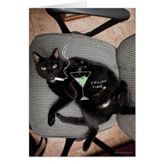 Chillax Cat Card