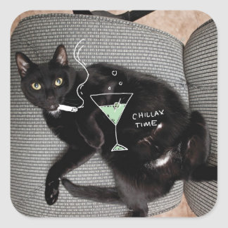 Chillax Cat Stickers