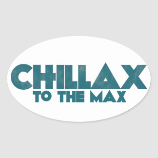 Chillax Oval Sticker