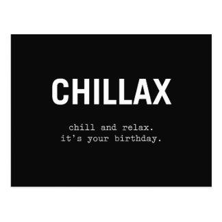 chillax postcard